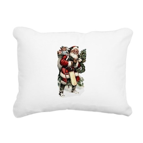 santa.png Rectangular Canvas Pillow
