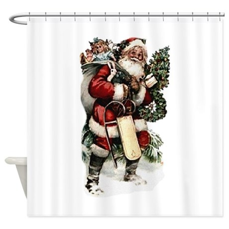 santa.png Shower Curtain
