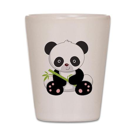 Panda With Bamboo Shot Glass