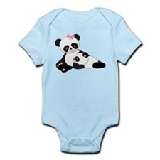 Panda Baby And Mother Body Suit
