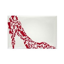 shoe silhouette with different shoes Rectangle Mag