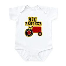 Red Tractor Big Brother Onesie