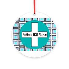ICU nurse 3 retired Ornament (Round)