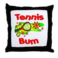 Tennis Bum Throw Pillow