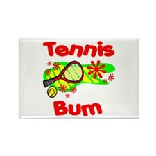 Tennis Bum Rectangle Magnet