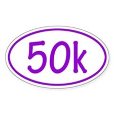 Purple 50k Oval Decal