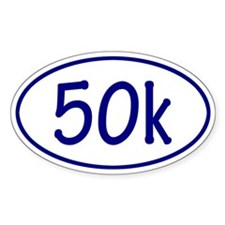 Blue 50k Oval Decal