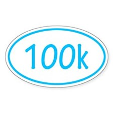 Sky Blue 100k Oval Decal