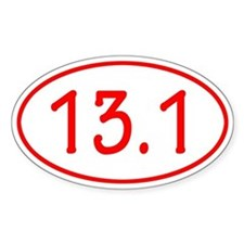 Red 13.1 Oval Decal