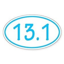 Sky Blue 13.1 Oval Decal