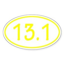 Yellow 13.1 Oval Decal