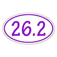 Purple 26.2 Oval Decal