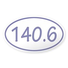 Blue 140.6 Oval Decal