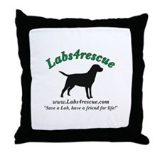 Labs4rescue Throw Pillow
