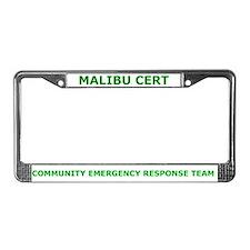 Malibu CERT License Plate Frame