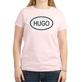 Hugo Oval Design Women's Pink T-Shirt