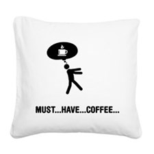 Coffee Lover Square Canvas Pillow