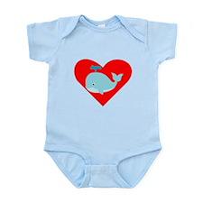 Blue Whale Heart Body Suit