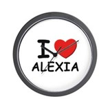 I love Alexia Wall Clock