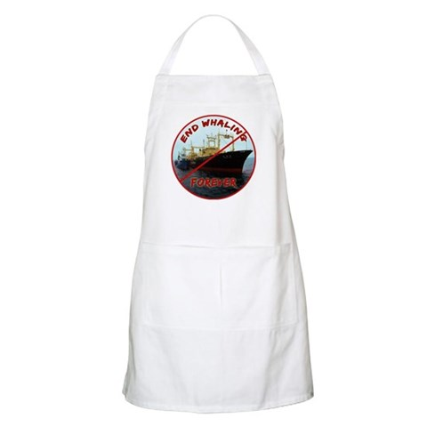 End Whaling Forever Apron
