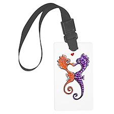 Sea Horse Kiss Luggage Tag