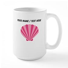 Custom Pink Oyster Shell Mug