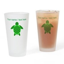 Custom Green Sea Turtle Drinking Glass