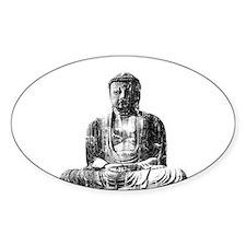Retro Buddha Oval Decal