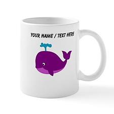 Custom Purple Cartoon Whale Mug