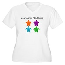 Custom Sea Turtle Pop Art Plus Size T-Shirt