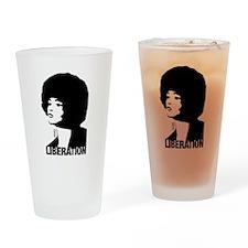 Angela's Liberation Drinking Glass