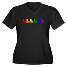 Inline Skate Rainbow Plus Size T-Shirt