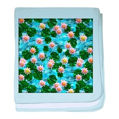 Waterlily reflections baby blanket