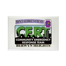 Berwyn Heights CERTs Rectangle Magnet