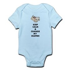 Keep calm and change my diaper! Body Suit