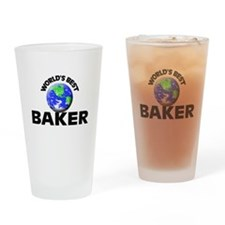 World's Best Baker Drinking Glass