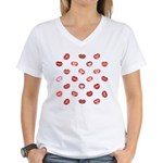 Kiss this! Women's V-Neck T-Shirt