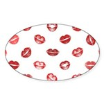 Kiss this! Sticker (Oval)