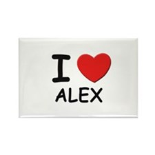 I love Alex Rectangle Magnet