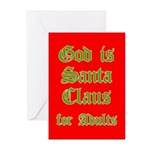 God is Santa Greeting Cards (10pk)