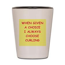 curler Shot Glass
