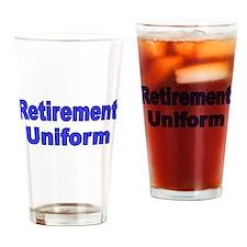 RETIREMENT UNIFORM 2 Drinking Glass