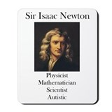Autistic Isaac Newton  Mousepad