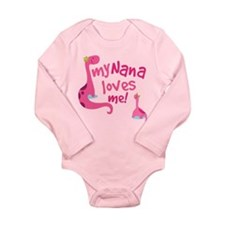 My Nana Loves Me Long Sleeve Infant Bodysuit