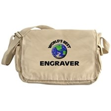 World's Best Engraver Messenger Bag