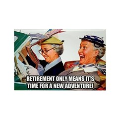 Retirement Adventure Fridge Magnet