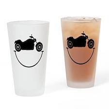 Happy Biker Drinking Glass