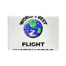 World's Best Flight Instructor Rectangle Magnet