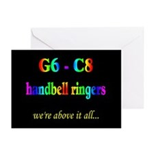 G6-C8 Black Greeting Cards (Pk of 10)