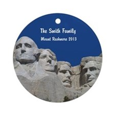 Personalized Mount Rushmore Ornament